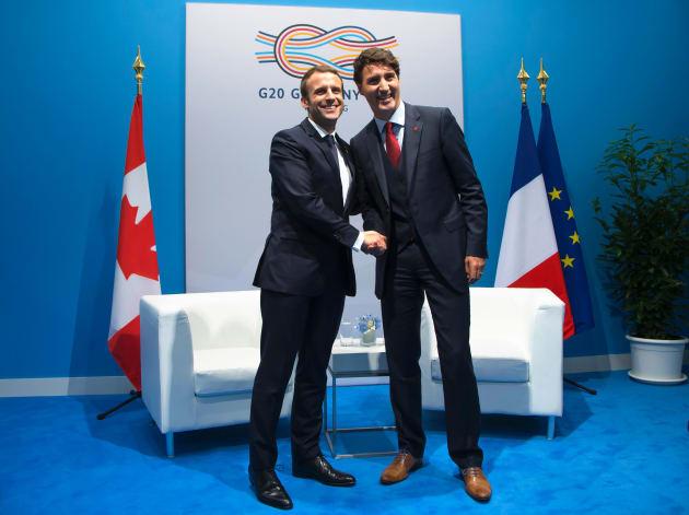 Au G20, Macron et Trudeau sur la même ligne face à