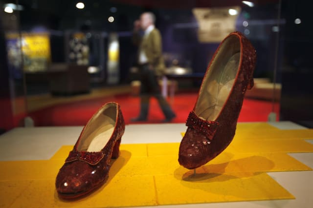 Dorothy's ruby red slippers saved thanks to kickstarter campaign