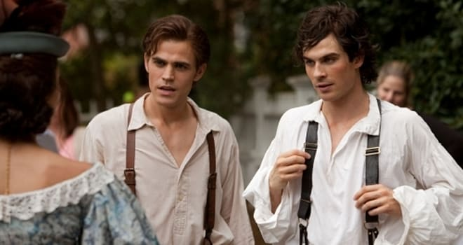 """Lost Girls"" - Pictured (L-R) Ian Somerhalder as Damon and Paul Wesley as Stefan in THE VAMPIRE DIARIES on The CW.Photo: Bob Mahoney/The CW©2009 The CW Network, LLC. All Rights Reserved."