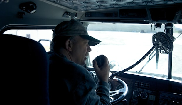AWADRJ Truck Driver Using CB Radio