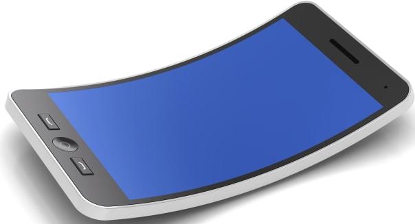 Flexible smartphone, 3d render