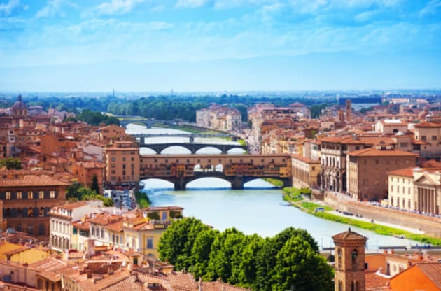 The Ponte Vecchio was the only bridge the retreating Germany army left standing during the Second World