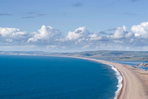 Chesil Beach Dorset England