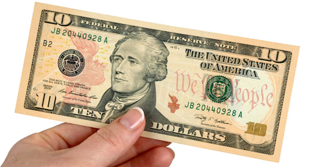 10 Dollar Note Dollars Money American Banknotes