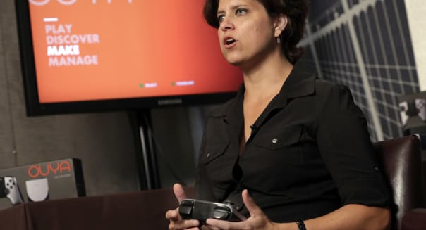 Games Ouya Console (Julie Uhrman, chief executive of Android game console maker Ouya, is interviewed in New York, Tuesday, June