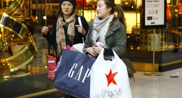 Shoppers Take Advantage Of Black Friday Deals