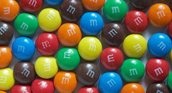choco M&Ms sweets close up