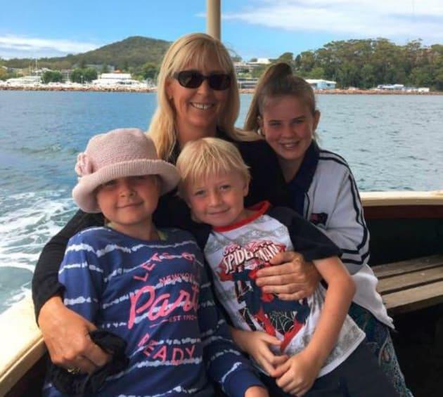 Stephanie King with her three children -- Chloe May, 8, Joseph, 7 and Ella Jane, 11. Chloe was the sole...