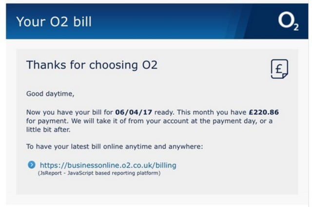 O2 scam on Twitter