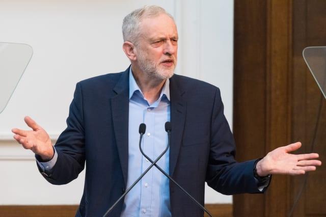 British Labour party leader Jeremy Corbyn...