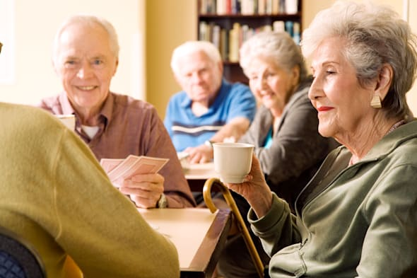 Five residents in a retirement home