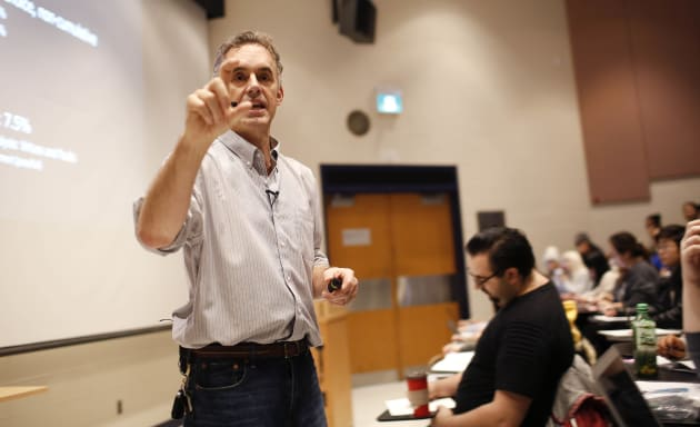 Jordan Peterson during his lecture at U of T. Peterson is the professor at the centre of a media storm...