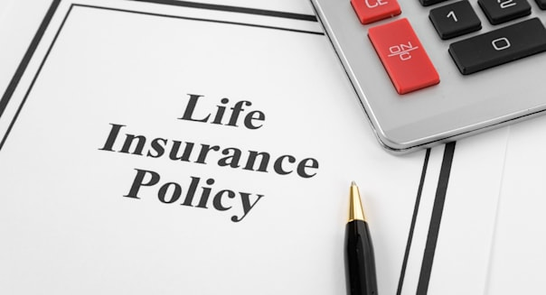 Document of Life Insurance Policy and calculator, for background
