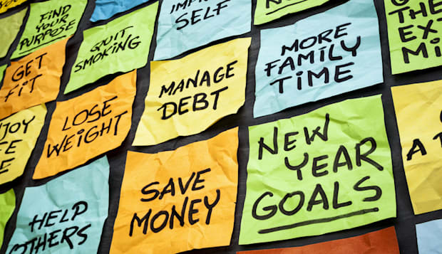 new year goals or resolutions   ...