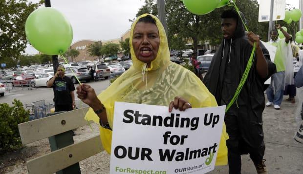 Walmart Protest Miami