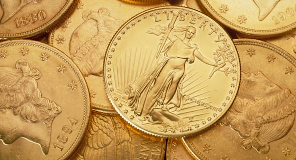 gold Canadian liberty dollar coins