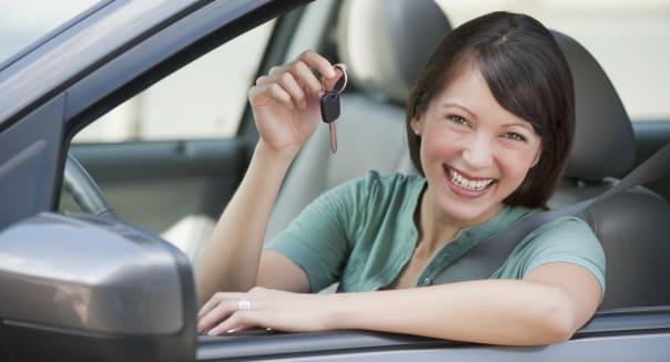 Woman car shopping
