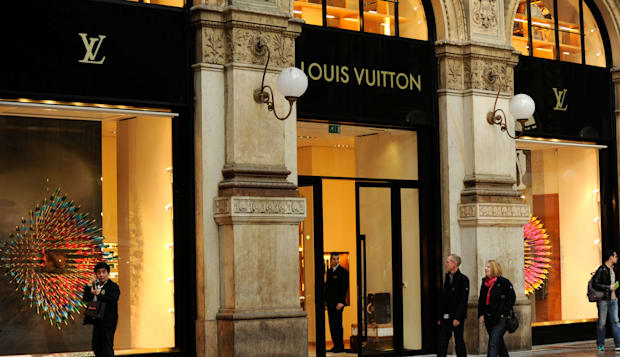 Louis Vuitton shop. Galleria Vittorio Emanuele II. Milan, Italy
