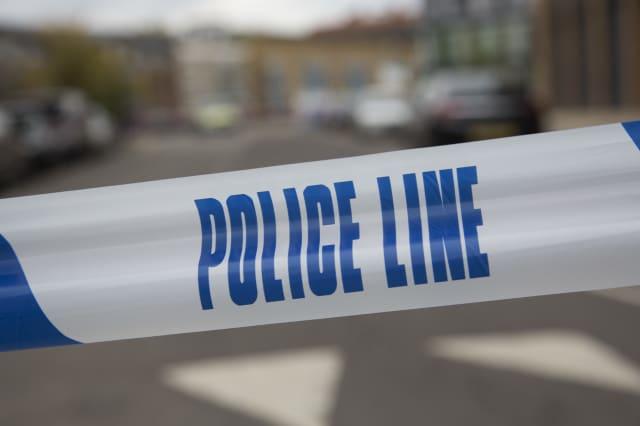 UK - London - Crime scene in Hackney where a police officer was shot