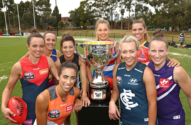 We're sure it's just a coincidence that Emma Zielke of the Lions and Chelsea Randall of the Crows are...