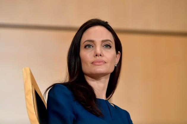 Angelina Jolie speaks at the annual lecture of the Sergio Vieira De Mello Foundation held at the United...