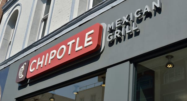 Chipotle Mexican Grill restaurant in Charing Cross Road, London, UK