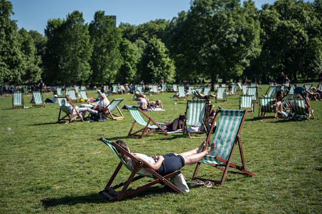 Bank Holiday warm weather in UK