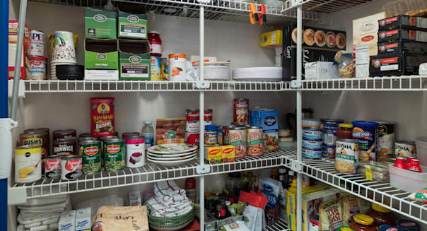 Organized Residential Pantry, USA