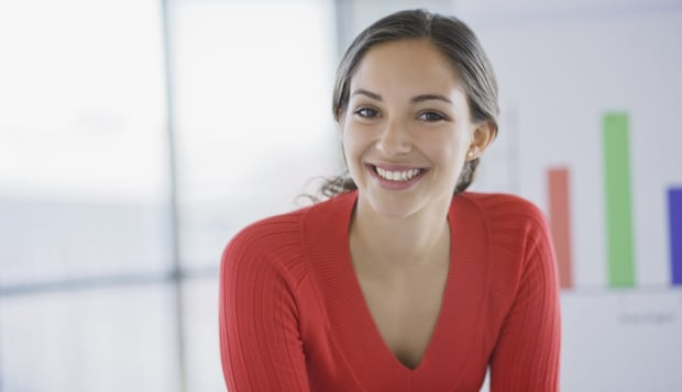Portrait of businesswoman, smiling