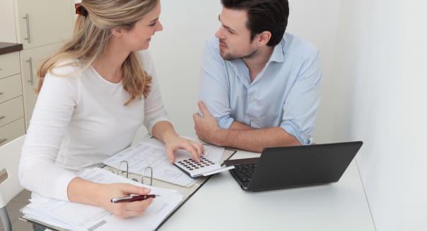 young couple finances retirement planning