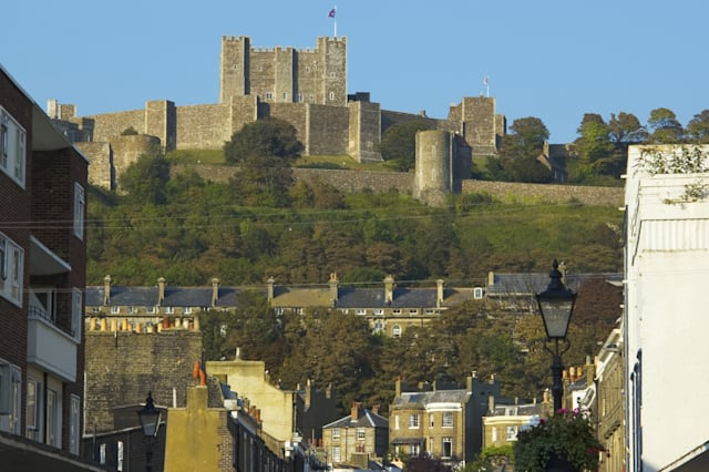 uk, England, kent, dover, town and castle