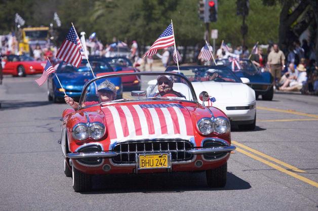 Annual 4th of July Parade in Ojai, California