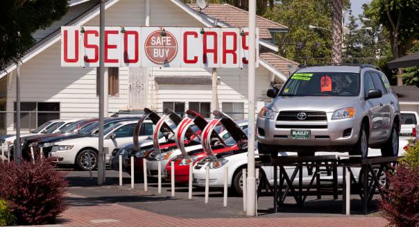 Used car lot - California USA