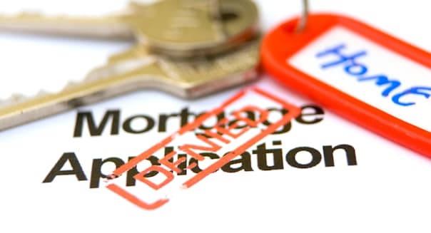 Home keys and mortgage application turned down