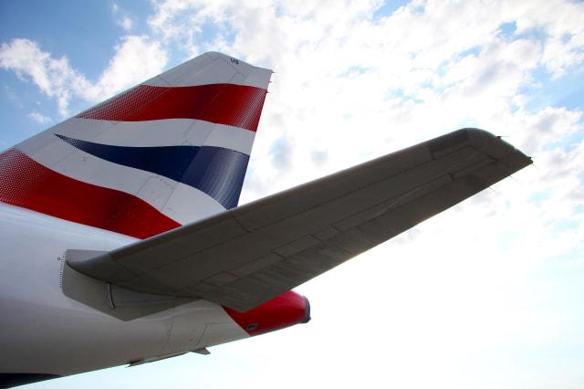 british airways airplane tail