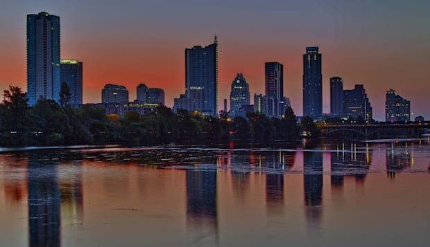 beautiful austin skyline...