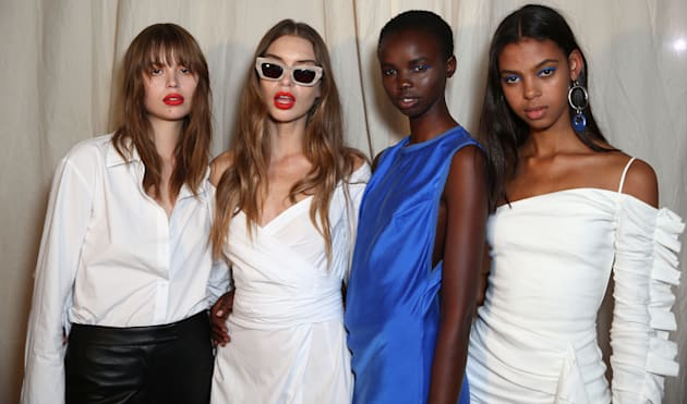 Models backstage at Bec &