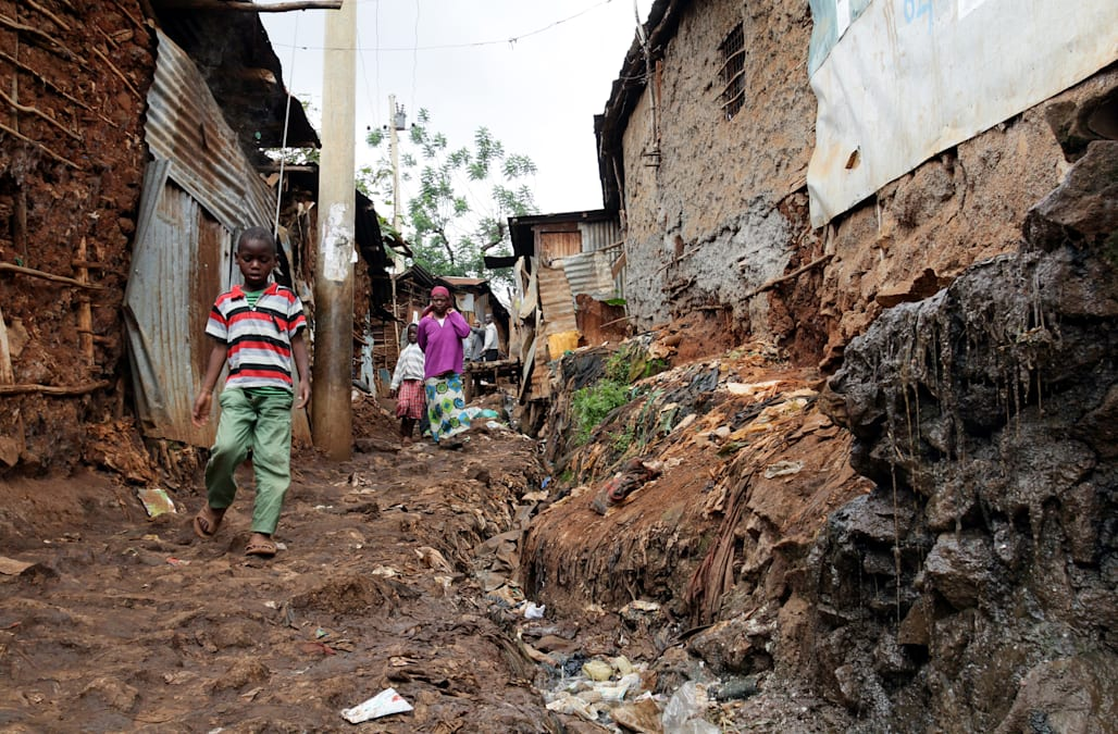 "One of the biggest slums in the world ""Kibera"""