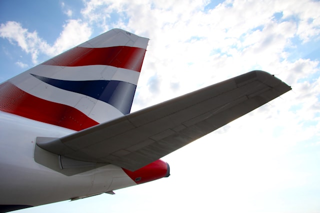 british airways airplane tail