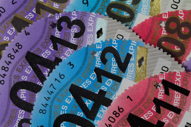 various car tax discs 2008 to...