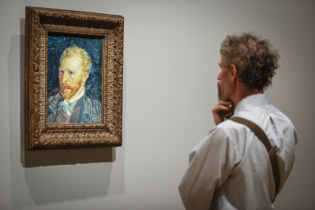 Self portrait, an 1889 oil on canvas, may have been one of Van Gogh's
