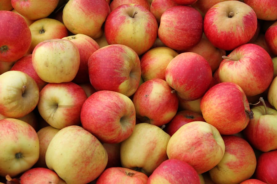 Producing 20 apples produces as much greenhouse gas as 800ml of