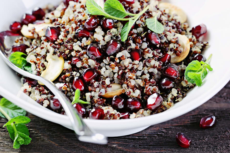 Quinoa can be used like rice and couscous in curries, salads, stews and stir