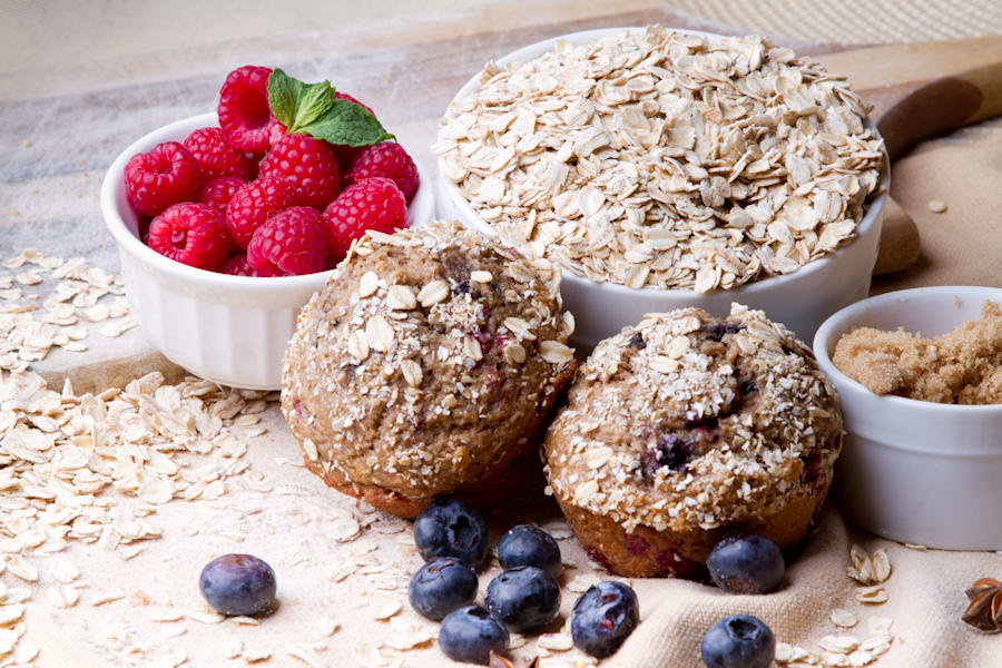 Include oats the next time you're making muffins and