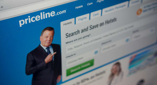 The Priceline travel website is seen on Friday, February 20, 2015.  The Priceline Group reported fourth quarter earnings beating