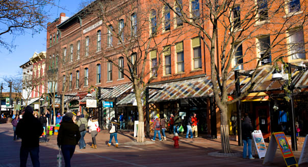 Church Street pedestrian mall, business district, Burlington, Vermont