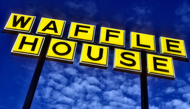 Waffle House Sign in Florida USA