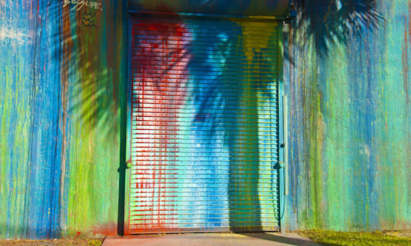 Graffiti entrance art in Wynwood Arts District of Miami, Florida, USA