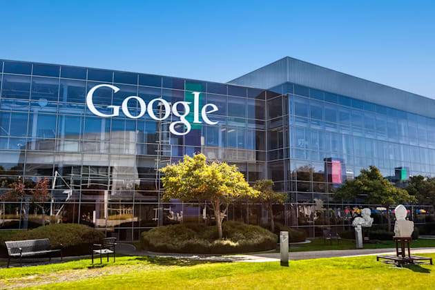 MOUNTAIN VIEW, CA/USA - October 12, 2013: Exterior view of a Google headquarters building. Google is a multinational corporation