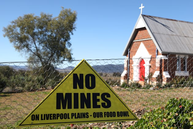 """""""No mines on Liverpool Plains our food bowl"""" at the old Breeza"""